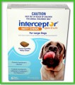 Interceptor Spectrum Chews - Large Dogs 22 - 45 kg (50 - 101 lbs) 6 Month Pack
