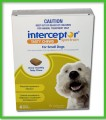 Interceptor Spectrum Chews - Small Dogs  4 - 11 kg (11-25 lbs)  6 Month Pack