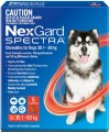 Nexgard Spectra Red 6 for Dogs 30.1 - 60 kg