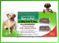 Drontal Allwormer Chewable for Large Dogs 35kg 75lb